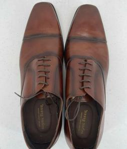 Asher Green Sz 14 Mens Genuine Leather Tan Cap Toe Lace Up O