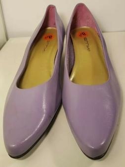 Bellini SZ 9.5 women's  low heel dress purple shoes fast shi
