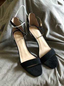 Metaphor Talula Women's Black Suede Heels Dress Shoes Size 1