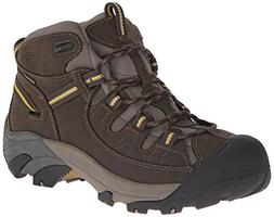 KEEN Men's Targhee II Mid Wide Outdoor Boot, Black Olive/Yel