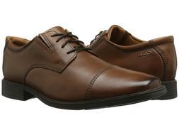 Clarks TILDEN CAP Mens Dark Tan Leather 261 30096 Lace Up Co