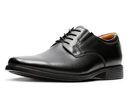 Clarks Men's Tilden Plain Black Leather 10 D - Medium