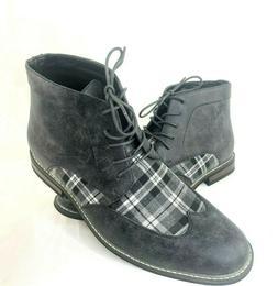 Enzo Romeo Titan Ankle Boot Wingtip Black White Plaid Size 1