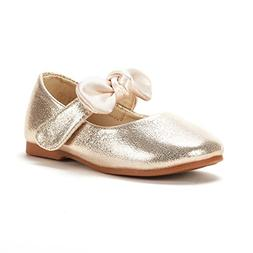 DREAM PAIRS Toddler Belle_02 Gold Girl's Mary Jane Ballerina