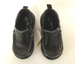 OKIE DOKIE Toddler Boys Loafer Dress Shoes Black - Size 4-10