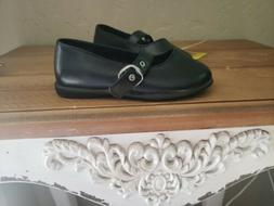TODDLER GIRLS BLACK DRESS SHOES SIZE 6 WIGGLE ROOM FOR TOES