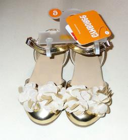 Gymboree Toddler Girls Gold Dress Shoes 4 5 6 7 8  NWT