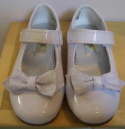 Toddler Girls Rachel Shoes Lil Crystal White Patent Party Dr
