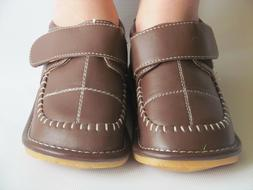 Toddler Shoes - Squeaky Shoes - Boys Brown Dress Shoes, Up t