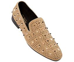 Asher Green Men's Tonal Crystal and Studded Suede Smoking