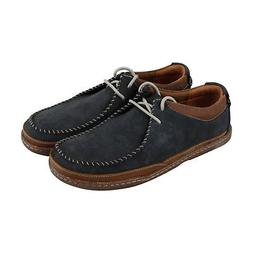 Clarks Trapell Pace Mens Blue Nubuck Casual Dress Lace Up Ox