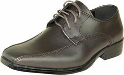VANGELO/TUX-5 Wrinkle Free Mens Dress Shoes Bicycle Toe Brow