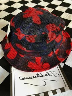 Vans Undertone Mesh Bucket Hat Blue & Red Tropical Floral