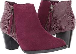 upright anne ankle boot merlot