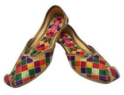 US DRESS SHOES FOR WOMEN ETHNIC DESIGNER SHOES WIDE SHOES PU