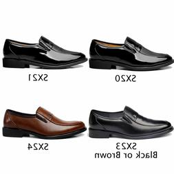 US Seller Men's Classic Fashion Leather Slip On Penny Loafer
