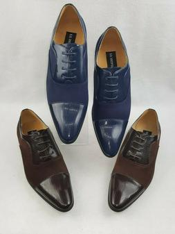 "UV Signature ""UV024"" Men's Oxford Cap Toe Dress Shoes"