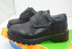 JUMPING JACKS Vance Boys Black Leather School Dress Shoes si