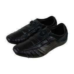 Puma Vedano V Mens Black Leather Casual Dress Slip On Loafer