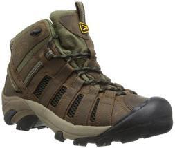KEEN Men's Voyageur Mid Hiking Boot,Raven/Tawny Olive,17 M U