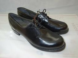 Vtg 70's Weinbrenner Women's sz 9 A Black Leather Military D