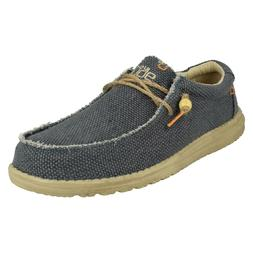 WALLY BRAIDED MENS HEY DUDE SLIP ON LIGHTWEIGHT NAVY CASUAL