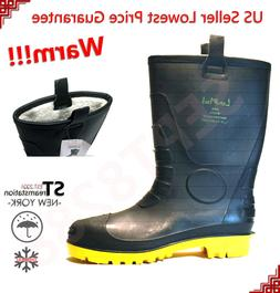 Winter Snow Rain Boots Men Water Shoes Warm Lined Thermolite