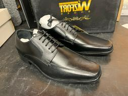 Wizfort Mens Leather Sole Shoes for Men, Size 9US