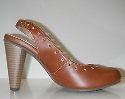 YOU by Crocs Women Benet Dress Leather Brown shoes sz 6 $115