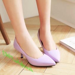 Women Candy Kitten Heel Dress Shoes Hot Pointed Toe Pumps Ca