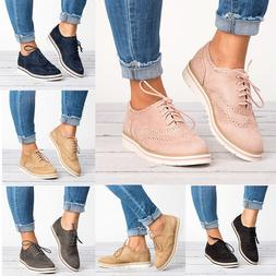 Women's Casual Shoes WingTip Brogues Oxfords Dress Formal St