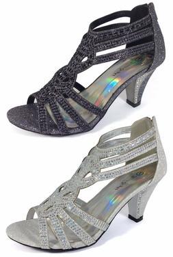 women evening dress shoes rhinestones high heels
