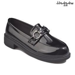 WHOHOLL Women Flats British Style Oxford <font><b>Shoes</b><