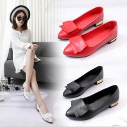 Women Lady Boat Shoes Soft Casual Ballet Slip On Flats Weddi