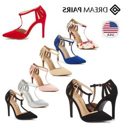 DREAM PAIRS Women Oppointed-Mary Dress High Heel Pointed Toe