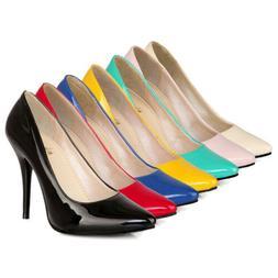 Women Pointed Toe Stilettos High Heels Dress Shoes Slip On C