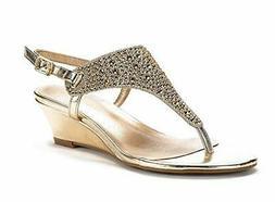 DREAM PAIRS Women's Wedge Sandals Thong Flip Flops Slingback