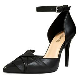 Women's Nine West Ankle Strap Dress Shoes - FAINTLYO - Black