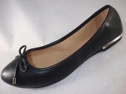 Women's APT 9 DELIGHT Black Bow Flats Slip On Casual Dress S