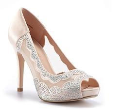DREAM PAIRS Women's Divine-01 High Heels Dress Pump Shoes Si