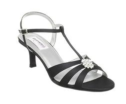 Women's Dress Shoes by DYEABLES - Opal - Black Satin - Wide