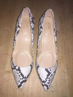 Jaclyn Smith Women's Esme Gray/Black Multi Dress Pump Shoes