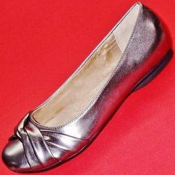 Women's SONOMA FARRAH Pewter Slip On Ballet Flats Loafers Ca