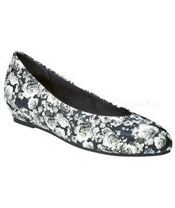 Women's Jan Dress Flats Shoes - Black Floral 8.5 Wide