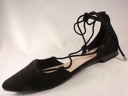 Women's JENNIFER LOPEZ TESSA Black Lace Up Flats Dress Shoes