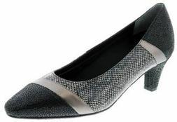 Ros Hommerson Women's Kiwi Dress Shoes Black Pewter Lizard P