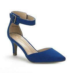 DREAM PAIRS Women's Lowpointed Low Heel Dress Pump Shoes, Ro