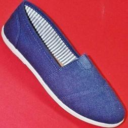 Women's SODA OBJECT Navy Blue Slip On Loafers Casual/Dress F