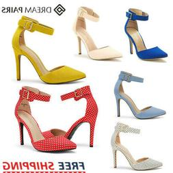 DREAM PAIRS Women's Pump Shoes High Heel Ankle Strap Party W