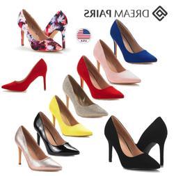 DREAM PAIRS Women's Slip On Pump Shoes Stilettos High Heel W